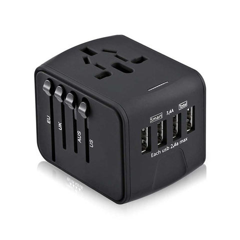 All-in-one International Travel Adapter with USB Charger