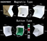 Portable Folding Photography Studio Diffuse Soft Box With LED - mintstuffs.com