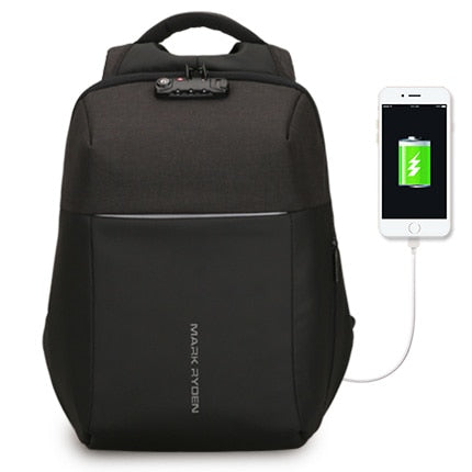 Mark Ryden - New Anti-thief USB Recharging Laptop Hard Shell TSA Lock Backpack - mintstuffs.com