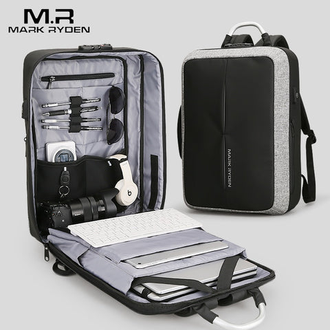 Mark Ryden - New Anti-thief USB Charging Business Backpack with TSA Lock - mintstuffs.com