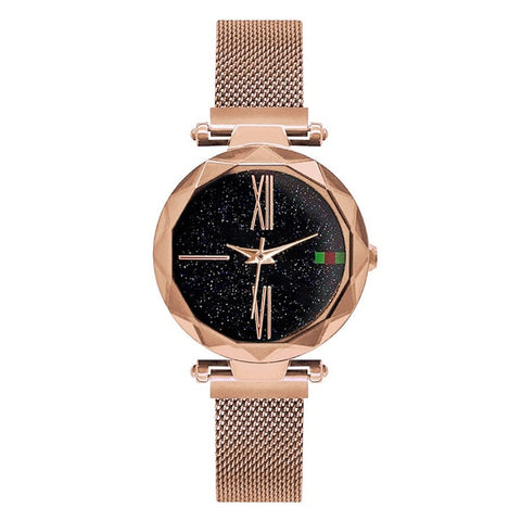 Luxury Women Watches 2018 Ladies Rose Gold Watch Starry Sky Magnetic Waterproof Female Wristwatch relogio feminino reloj mujer - mintstuffs.com