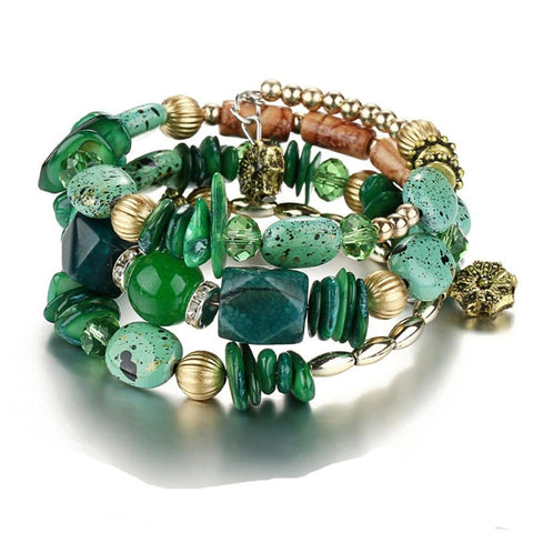 Multilayer Beads Stones Charm Bracelets - mintstuffs.com