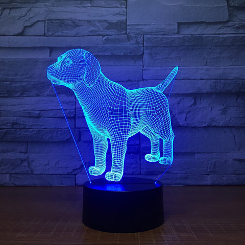 Labrador Puppy 3D LED Lamp - mintstuffs.com
