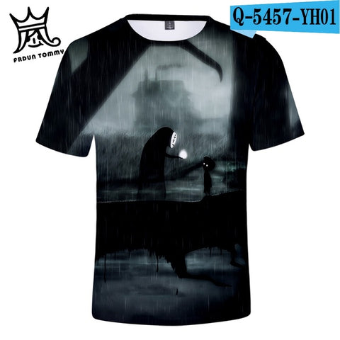 No Face Ghost Spirited Away Harajuku Tshirt