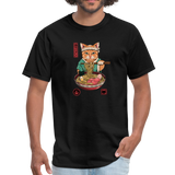 Neko Ramen Men's T-Shirt - black