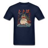Totoro Kaiju Ghibli Gildan Ultra Cotton Adult T-Shirt - navy