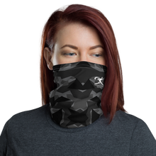 Load image into Gallery viewer, Black/Grey Abstract Neck Gaiter