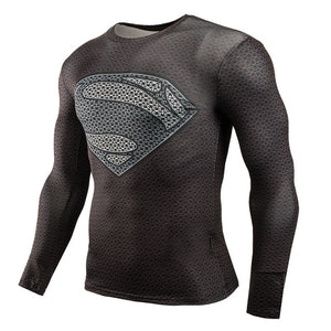 Carbon Superman Suit - Compression Long Sleeve