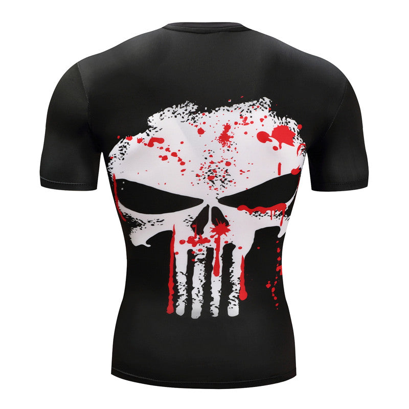 Blood Skull - Compression T-Shirt