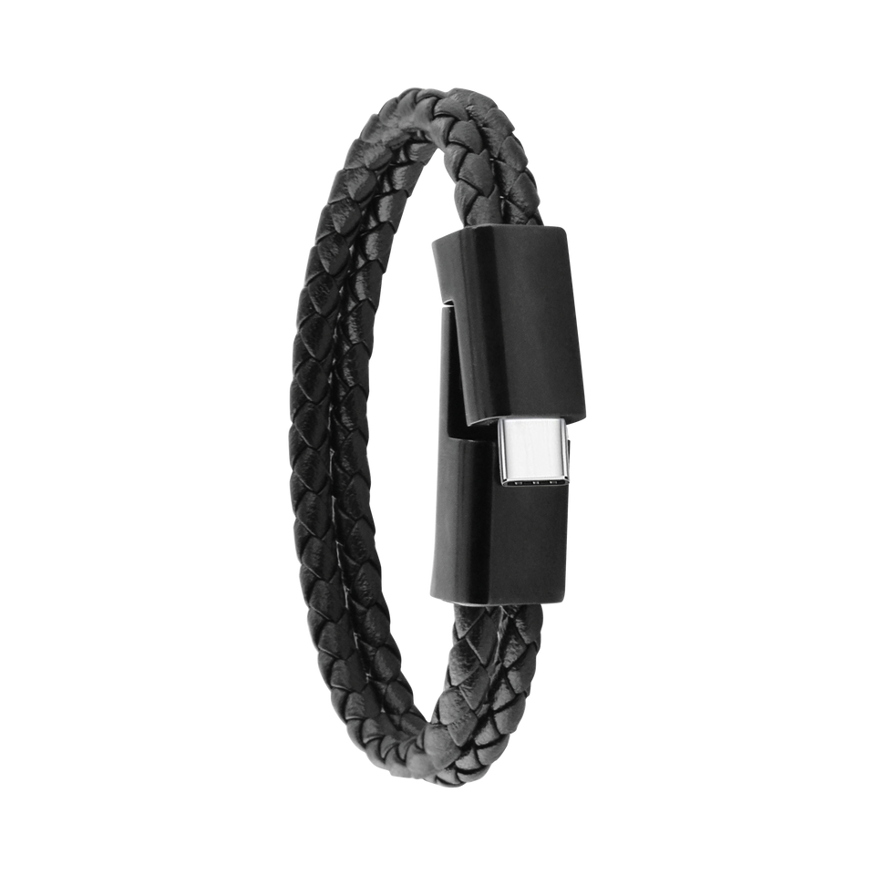 Leather Cable Bracelet, Type-C
