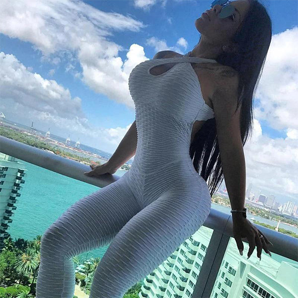 [Hot Sale & Big Discount] Anti-Cellulite Butt Lifting Textured Fitness Bodysuit - Buy More Save More - BestLittleThing
