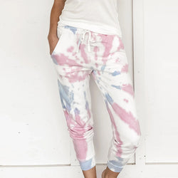 [Limited Stock, 50% OFF] TIE DYE PATTERN DRAWSTRING JOGGERS - BestLittleThing