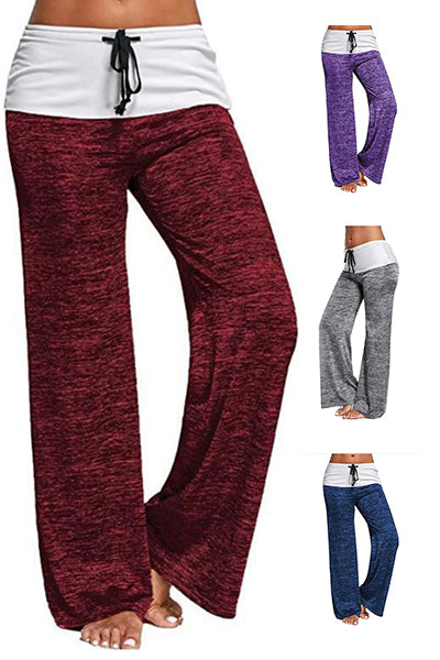 Drawstring Stretch Wide Leg Yoga Pants - BestLittleThing