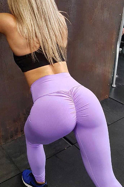 Slim Fit Women's Pure Color Yoga Pants - BestLittleThing