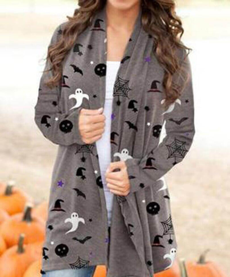 Women's Halloween Print Cardigan - BestLittleThing