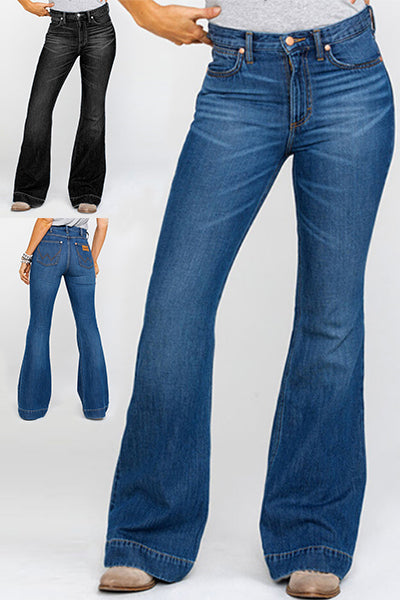 70s Stretchy Bell Bottom Jeans - BestLittleThing