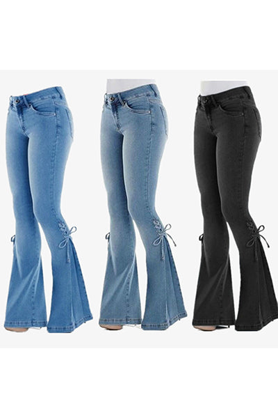 【Only $29.98!!】70s Hip Hugger Bell Bottoms Stretchy Jeans - BestLittleThing