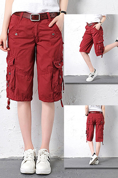 Multi-Pocket Cargo Loose Baggy Shorts - BestLittleThing