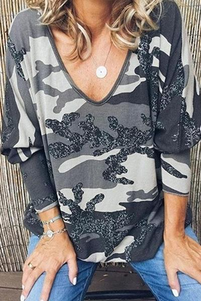 Camo Print Loose Fit T-Shirt(3 Colors) - BestLittleThing