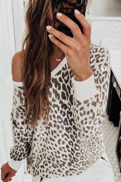 Drop Shoulder Leopard T-shirt - BestLittleThing