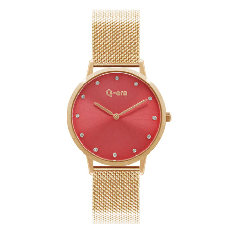 ISABELLA STONE Mesh Rose Gold Red/Rose Gold