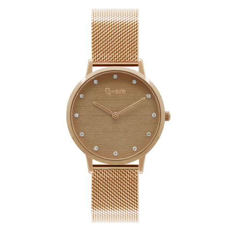 ALEXANDRA STONE Mesh Rose Gold Brown/Rose Gold
