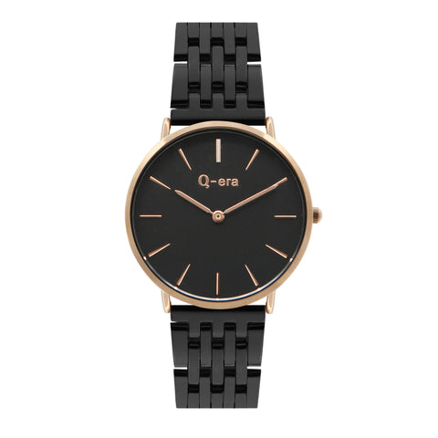 VICTORIA Steel Rose Gold Black/Black