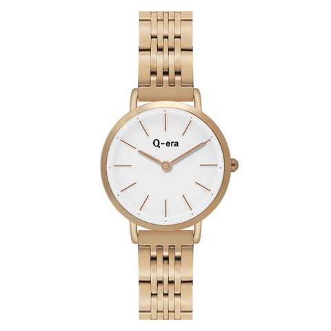 Sisi Petite Steel Rose Gold White Matt/Rose Gold