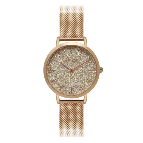 Sisi Petite Mesh Rose Gold Glitter Index
