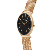 VICTORIA THE GREATER Mesh Rose Gold Black/Rose Gold