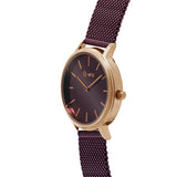 MARY Mesh Rose Gold Burgundy/Burgundy