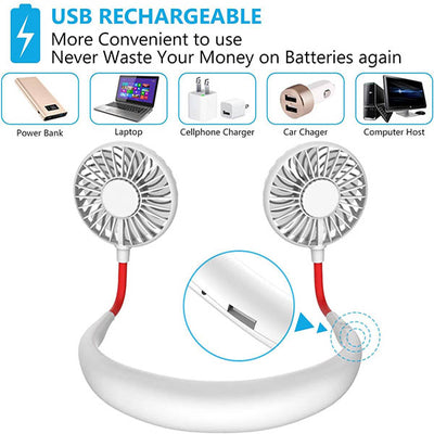 【Last Day Promotion 50% OFF】Handsfree Rechargeable Neckband Fan - Keep Cool Wherever You Are! - IlifeGadgets