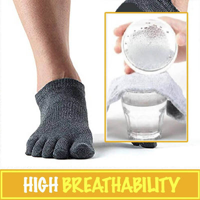 【buy 2 get extra 10% OFF】Toe Spread Breathable Bamboo Fiber Socks (5 Pairs) - IlifeGadgets