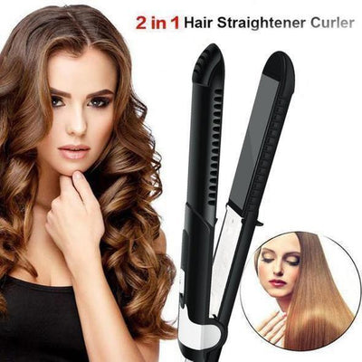 【90%OFF】🔥2 IN 1 TWIST STRAIGHTENING CURLING IRON - IlifeGadgets