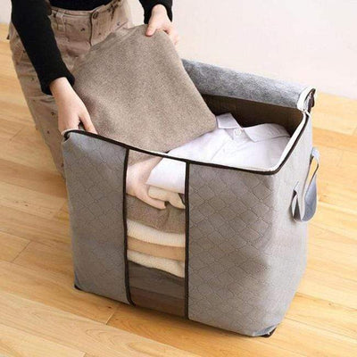 【Buy 2 Get Extra 10% Off +Free Shipping】Folding Bamboo Charcoal Clothes Storage Bag(3Pcs) - IlifeGadgets
