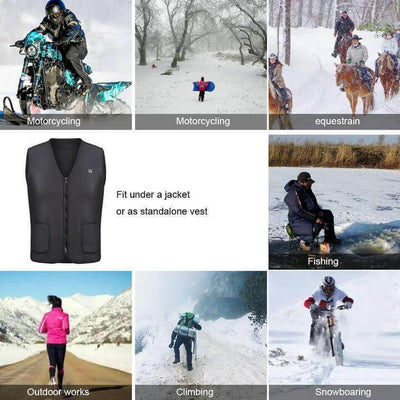 USB Heated Outdoor Vest - IlifeGadgets