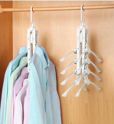 Magic Folding Clothes Hangers, 8 in 1, 360 Degree Rotation (EXTRA 20% OFF) - IlifeGadgets