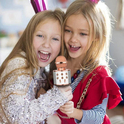 WIRELESS PORTABLE HANDHELD BLUETOOTH KARAOKE MICROPHONE FOR KIDS - IlifeGadgets