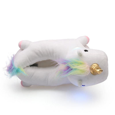 Rainbow Light-Up Unicorn Slippers - IlifeGadgets