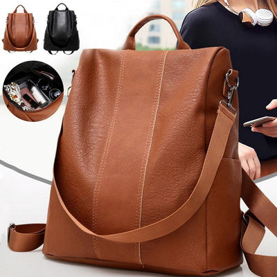 【LAST DAY 50% OFF+FREE SHIPPING】Soft Genuine Leather Tote Casual Backpack - IlifeGadgets