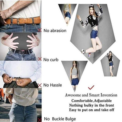 【Last Day 66% OFF+Free Shipping】Buckle-Free Adjustable Belt - IlifeGadgets