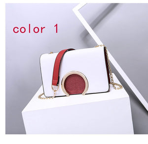 Fashion ring decoration patchwork crossbody shoulder bag - IlifeGadgets