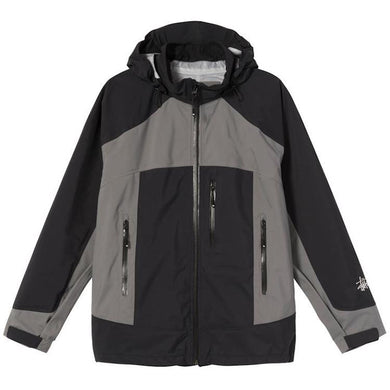 Stussy Taped Seam Rain Shell Jacket Black
