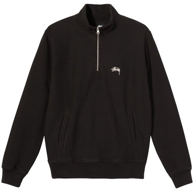 Stussy Stock Logo Mock OverDyed Sweatshirt Black
