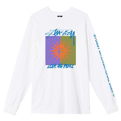 Stussy Love & Peace Longsleeve T-Shirt White