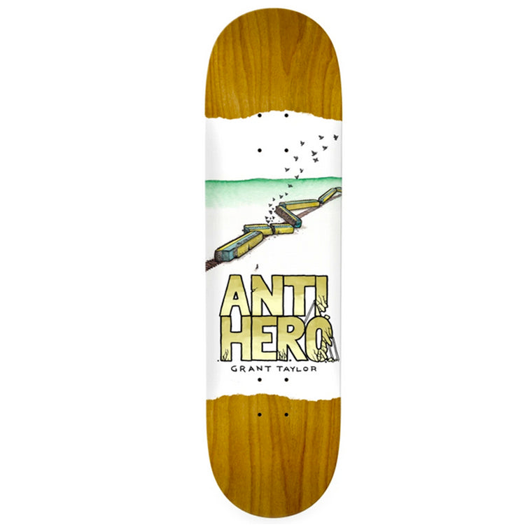 Anti Hero Skateboards Grant Expressions Skateboard Deck 8.38