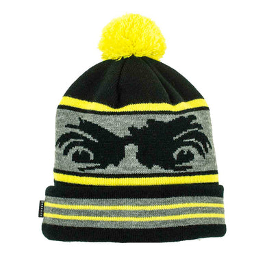 Madness Skateboards Crazy Eyes Safety Yellow/Black Beanie