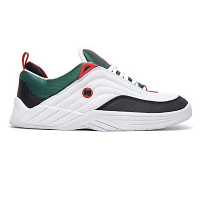 DC Williams Slim White/Black/Athletic Red Shoes