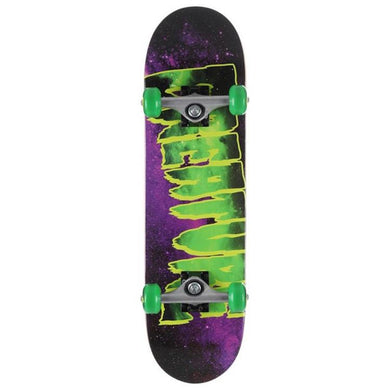 Creature Skateboards Galaxy Mini Green/Purple Complete Skateboard 7.5