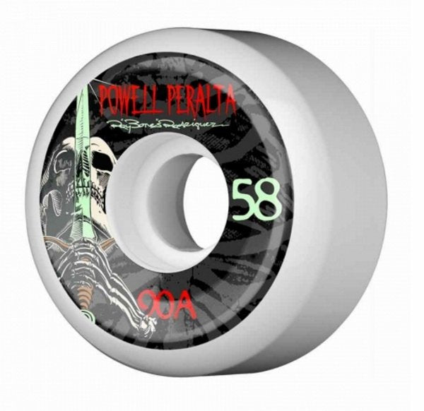 Powell Peralta Ray Rodriguez Skull And Sword 3 Skateboard Wheels 90a 58mm